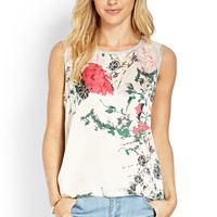 Satin Front Floral Top