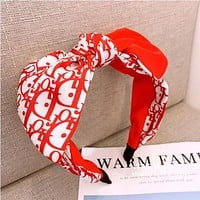 Dior Hot Sale Women Stylish Chic Bowknot Headwrap Headband Head Hair Band Red