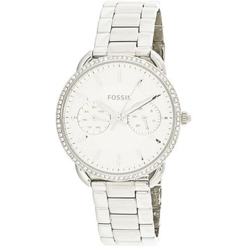 Fossil Women's Tailor ES4262 Silver Stainless-Steel Japanese Quartz Fashion Watch