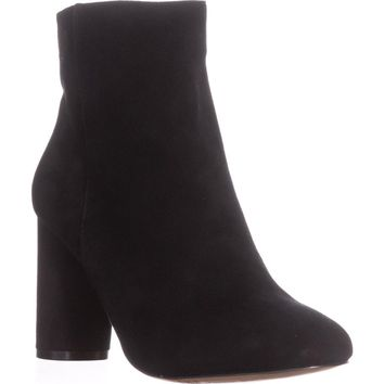 I35 Taytee Block Heel Dress Ankle Boots, Black Suede, 9.5 US