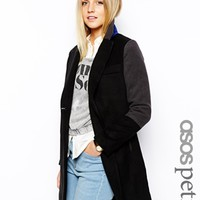 ASOS PETITE Exclusive Coat With Contrast Collar - Black $64.75