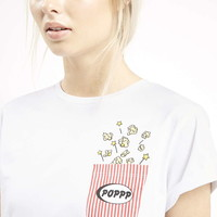 PETITE Popcorn Pocket Tee By Tee and Cake - Topshop