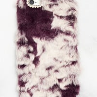 Purple Fuzzy iPhone Case