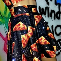 SWEET LORD O'MIGHTY! PIZZA IN SPACE SK8R SKIRT