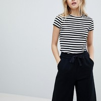 Monki Scoop Neck Stripe T-Shirt at asos.com