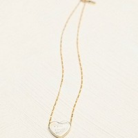 Erica Weiner  Etched Heart Necklace at Free People Clothing Boutique