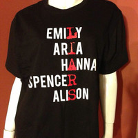 Pretty Little Liars LIARS TShirt  White and by LittlePrettyLies