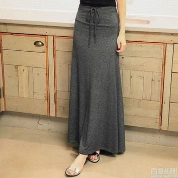 Women's Long Skirt With String Around The Waistone Size = 1946476868