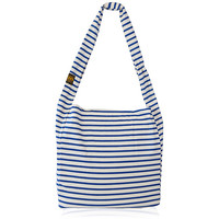 Navy, Classic Thin Stripe Tote, Large Market Tote