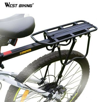 WEST BIKING Bike Rack Aluminum Alloy 50KG Luggage Rear Carrier Trunk for Bicycles MTB Bike Rear Shelf Cycling Bicycle Racks