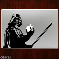 Darth Vader With Lightsaber Unique Decals Stickers For Macbook 13 Pro Air Decal