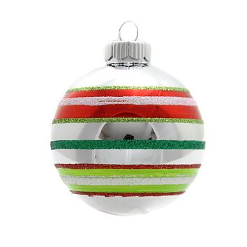 Shiny Brite Hs Rounds & Figures Glass Ornament