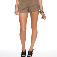 Belted Woven Shorts
