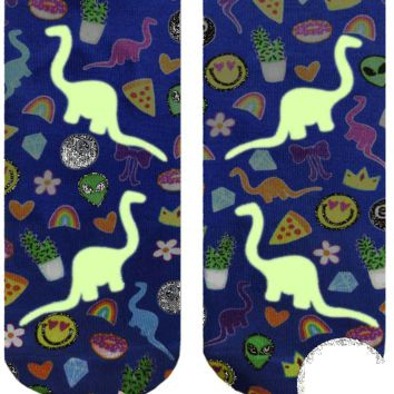 Dino Madness Ankle Socks