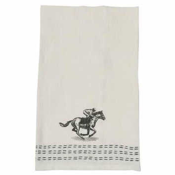 Down The Stretch Linen Hand Towel