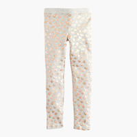 crewcuts Girls Everyday Leggings In Leopard Foil