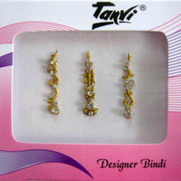 India Traditional Exclusive Forehead Bollywood Tika Tikka Bindi Tatoo - 3 Nos