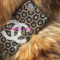 Chanel iPhone Case, iPhone 4 Case, Crystal iPhone 4s Bling Case Cover Luxury Leopard iPhone Case Skin