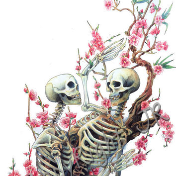 Feel My Bones Skeleton Print 8x10 inches by wengergirl on Etsy