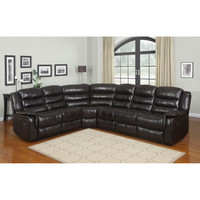 Melrose Leather Reclining Sectional