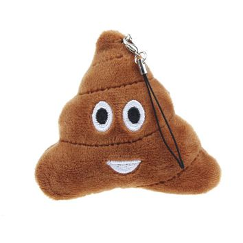 Cute Emoji Smiley Emoticon Poo Shape Key Chain Soft Toy Gift Pendant Bag Accessory