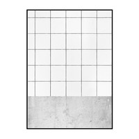 concrete and tiles print / two sizes