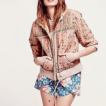 Free People Womens Play My Song Hooded Jacket