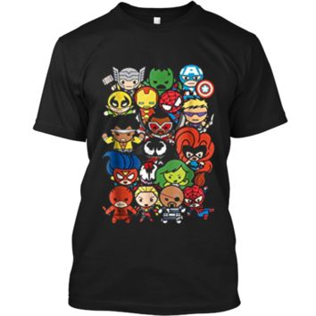 Marvel Heroes And Villains Team Kawaii Graphic  Custom Ultra Cotton
