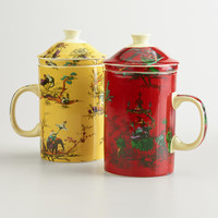 Chinois Toile Infuser Mugs, Set of 2 - World Market