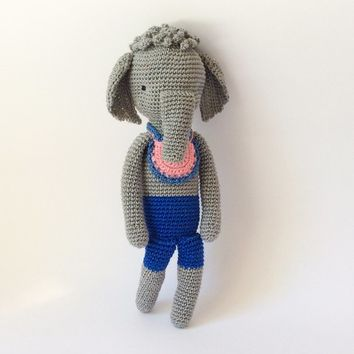 Crochet toy Amigurumi Baby toy Kid plush Crochet Elephant Stuffed animal Crochet animal