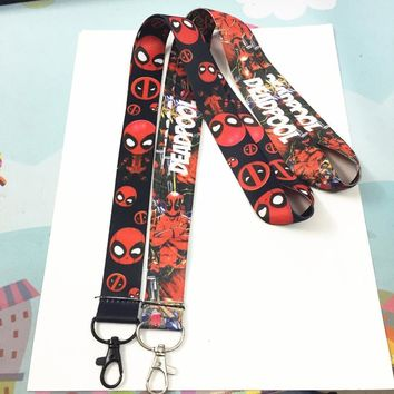 Deadpool Dead pool Taco  2 marvel key lanyard ID badge card holder keychain Neck straps Cosplay accessories AT_70_6