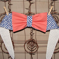 Bikini Sunbathing....Bandeau/Halter/Crop Bow Top..Custom Order