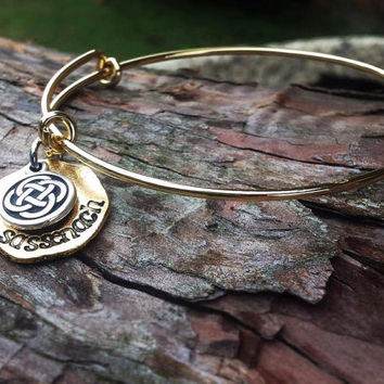 Hand Stamped Sassenach adjustable bracelet - Outlander