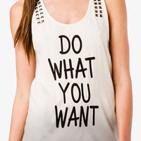 Ombré Do What You Want Tank | FOREVER 21 - 2047611227