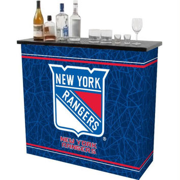 NHL New York Rangers 2 Shelf Portable Bar w- Case