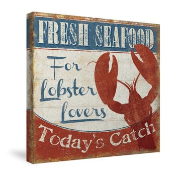 Fresh Seafood I Canvas Wall Art