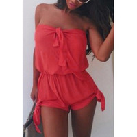 RED Bowknot Rompers