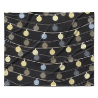 "Marta Olga Klara ""Fairy Lights"" Love Bokeh Fleece Throw Blanket"