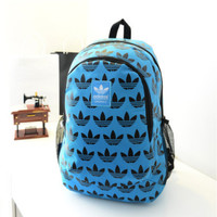 """Adidas"" Casual Sport Laptop Bag Shoulder School Bag Backpack Spell Black Blue"
