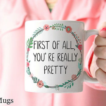 Friendship Mugs, Funny Mugs, Coffee Mugs with Sayings, Bridesmaid Gift, Wedding Gifts, Best Friend Gift, Floral Coffee Mugs, Cute Mug (Q911)