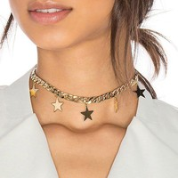 Celestial Star Gold Necklace