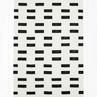 Block Geo 4x6 Rug in Black - Urban Outfitters