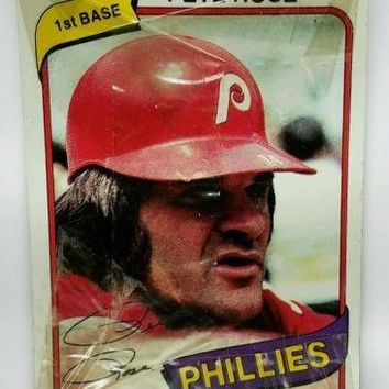 1980 Burger King Unopened Pack PETE ROSE ON TOP! Phillies Topps 3-Card Pack HOT