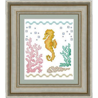 Seahorse -  PDF Cross Stitch Pattern - INSTANT DOWNLOAD