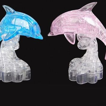 3D puzzle Crystal Dolphin, panda, tower