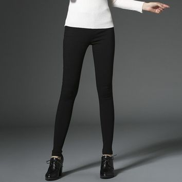 Spring Summer New Style  Women's Dress All Matched Elasticity Feet Pants Slim Skinny Pants Fashion Female Pencil Pants
