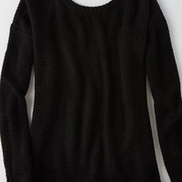 AEO Women's Don't Ask Why V-back Sweater