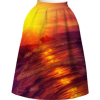 Purple sunset Neoprene Full Skirt