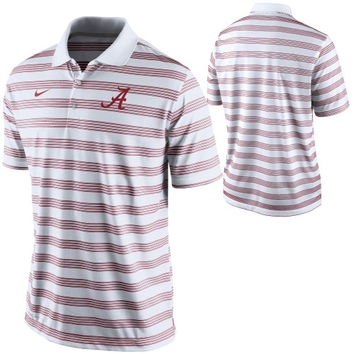 Alabama Crimson Tide Nike Preseason Football Dri-FIT Polo – White
