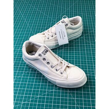 Converse Canvas Chevronstar Ox White Low Canvas Shoes - Sale
